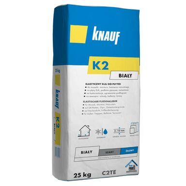 Klej do płytek ściennych elastyczny K2 biały 25 kg Knauf