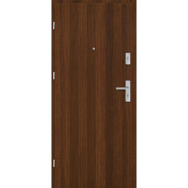 Drzwi zewnętrzne drewniane Grafen Orzech Polski 80 Lewe otwierane na zewnątrz Nawadoor