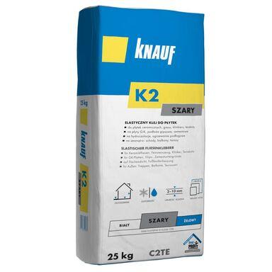 Klej do płytek ściennych elastyczny K2 szary 25 kg Knauf