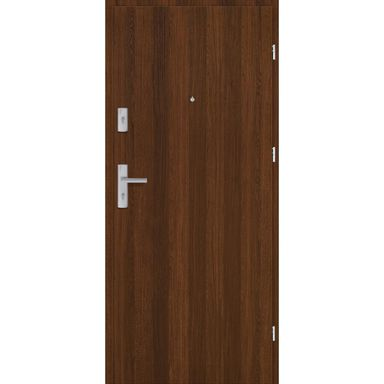 Drzwi zewnętrzne drewniane Grafen Orzech Polski 80 Prawe otwierane na zewnątrz Nawadoor