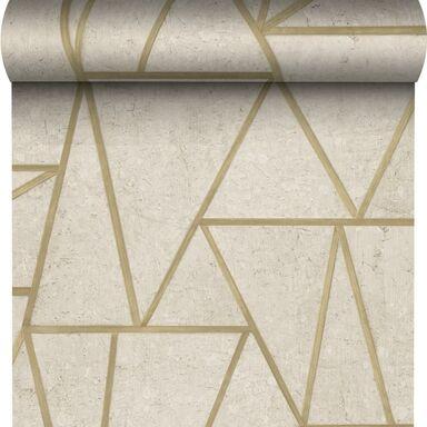 Tapeta SOHO beżowo-złota winylowa na flizelinie