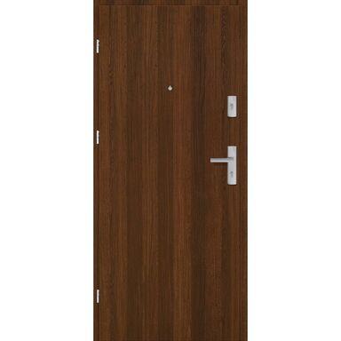 Drzwi zewnętrzne drewniane Grafen Orzech Polski 90 Lewe otwierane do wewnątrz Nawadoor