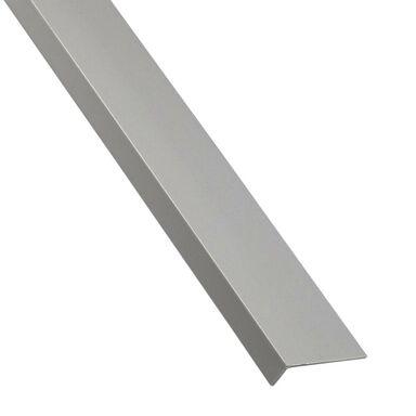 Kątownik PVC 2.6 m x 30 x 17 mm matowy szary STANDERS