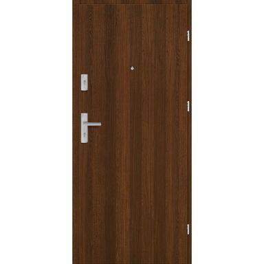 Drzwi zewnętrzne drewniane Grafen Orzech Polski 90 Prawe otwierane do wewnątrz Nawadoor
