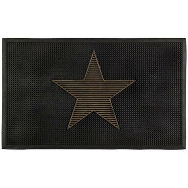 Wycieraczka wewnętrzna STAR 75 x 45 cm gumowa szara