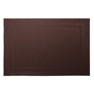 Podkładka na stół Pad prostokątna 43 x 28 cm brązowa