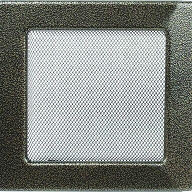 Kratka kominkowa CZARNO-ZŁOTA 17 x 17 cm
