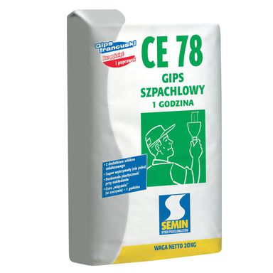 Gips szpachlowy CE 78 do GKB 20 kg Semin
