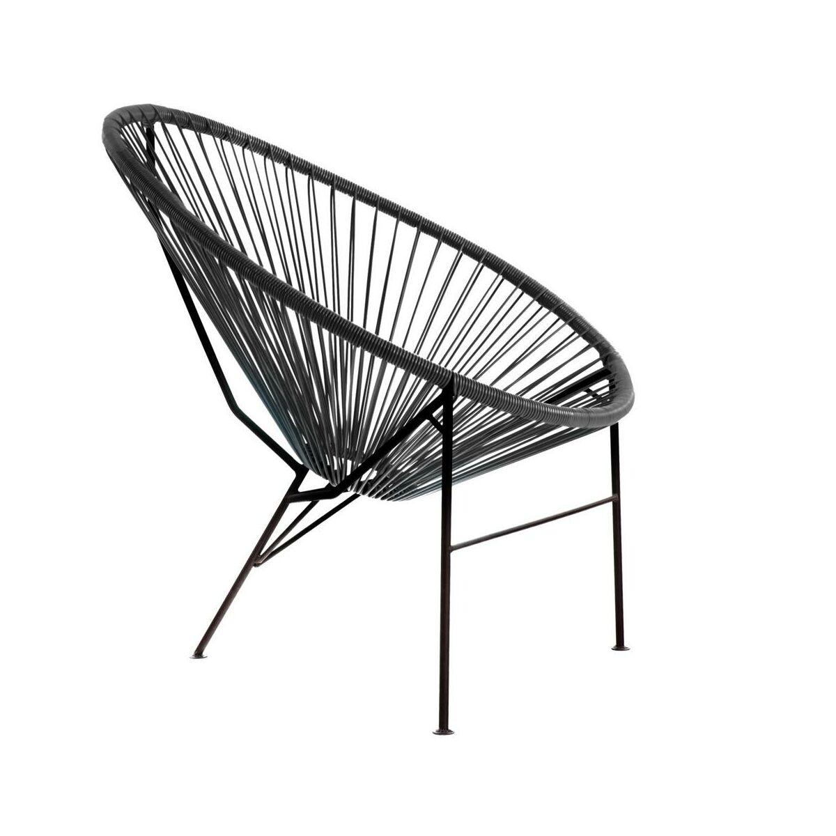 Krzeslo Ogrodowe Acapulco Czarne Krzesla Fotele Lawki Ogrodowe W Atrakcyjnej Cenie W Sklepach Leroy Merlin