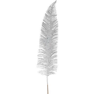 Gałązka piórko z brokatem 84 cm 1 szt. srebrny