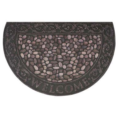 Wycieraczka zewnętrzna RIVERSTONE 58.5 x 89 cm gumowa brązowa INSPIRE