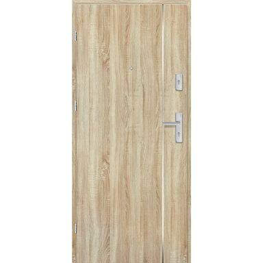 Drzwi zewnętrzne drewniane Grafen Top Dąb Sonoma Polska 80 Lewe otwierane na zewnątrz Nawadoor