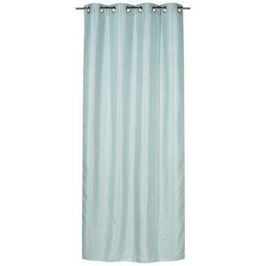 Zasłona AZURRO  kolor Niebieski 140 x 260 cm Pierścienie 200 g/m²  INSPIRE
