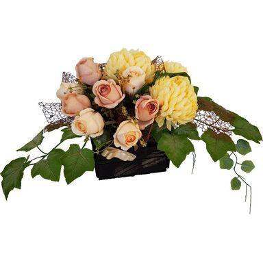 Kompozycja kwiatowa nagrobkowa w ozdobnej skrzynce