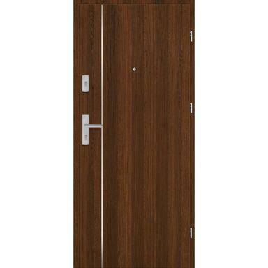 Drzwi zewnętrzne drewniane Grafen Top Orzech Polski 90 Prawe otwierane do wewnątrz Nawadoor