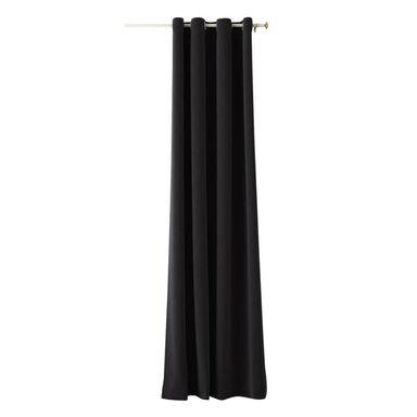 Zasłona Aura czarna 140 x 250 cm na przelotkach