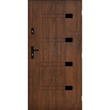 Drzwi wejściowe MONTPELLIER Orzech 90 Prawe PANTOR