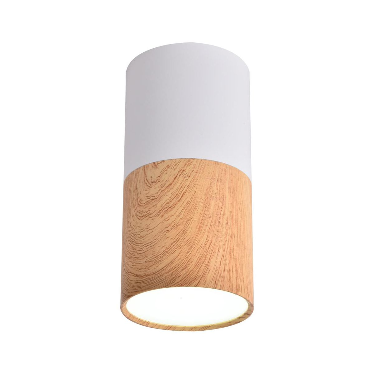 Oprawa natynkowa TUBA IP20 śr. 5.8 cm biało drewniana LED CANDELLUX