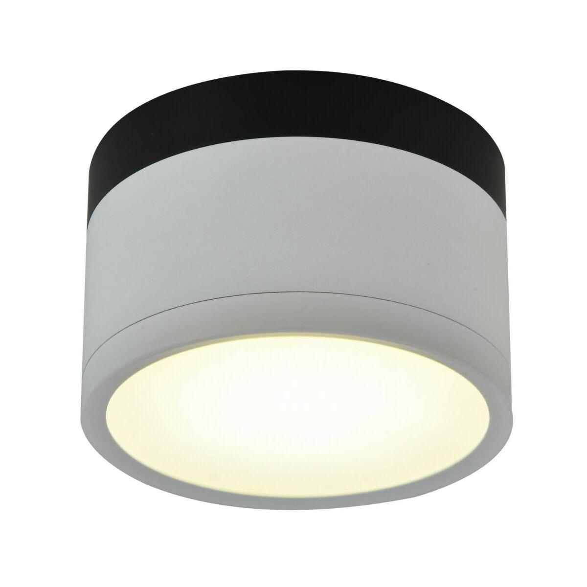 Oprawa natynkowa TUBA IP20 śr. 8.8 cm biało czarna LED CANDELLUX