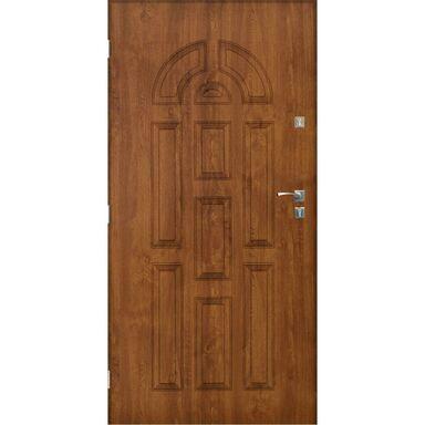 Drzwi zewnętrzne stalowe VALENCIA Złoty dąb 80 Lewe