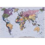 Fototapeta WORLD MAP 270.0 x 270 cm
