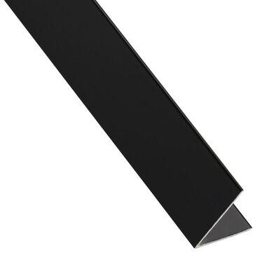 Kątownik aluminiowy 2.6 m x 16 x 16 mm połysk czarny