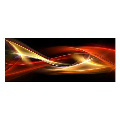 Obraz szklany GLASSPIK ABSTRAKCJA CZARNA 125 x 50 cm
