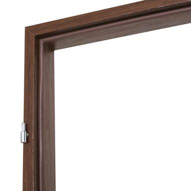 Ościeżnica stała do drzwi zewnętrznych Iryd 90 Lewa orzech premium
