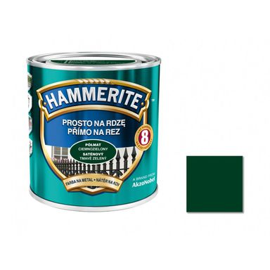 Farba antykorozyjna PROSTO NA RDZĘ 2.5 l Ciemnozielony Półmat HAMMERITE