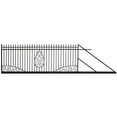 Brama przesuwna prawa ZEUS 400cm POLBRAM