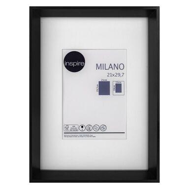 Ramka na zdjęcia Milano 21 x 29.7 cm czarna MDF Inspire