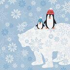 Serwetki świąteczne WINTER FRIENDS 33 x 33 cm 20 szt.
