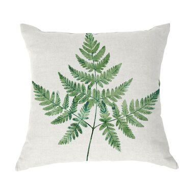 Poduszka w liście Elechal zielona 40 x 40 cm Inspire