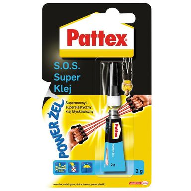 Klej błyskawiczny S.O.S. POWER ŻEL 2 g PATTEX