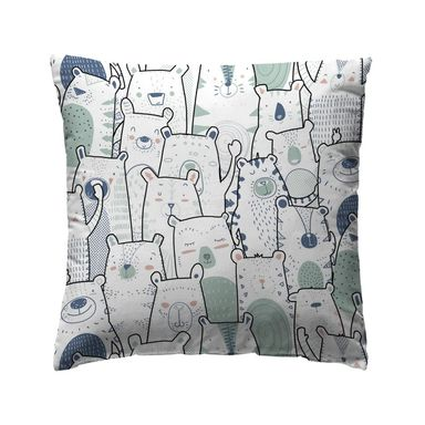 Poduszka dziecięca Nomnom niebiesko-miętowa 40 x 40 cm Inspire
