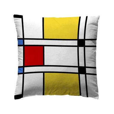 Poduszka Mondrian czerwono-żółta 40 x 40 cm Inspire
