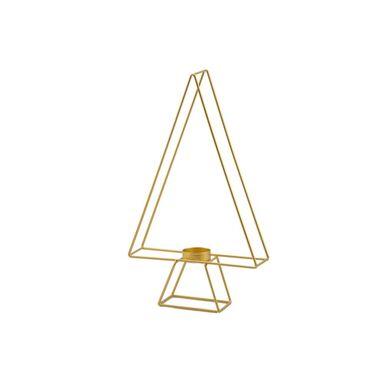 Świecznik choinka 34.5 cm 1 szt. złota