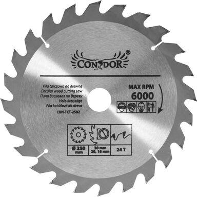 Tarcza do drewna CON-TCT-2502 śr. 250 mm  24 z CONDOR