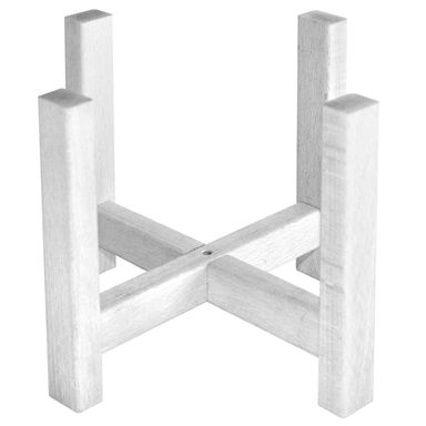 Stojak drewniany pod osłonkę 21,5 x 21,5 x 17 cm biały