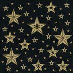 Serwetki świąteczne BEAUTIFUL STARS czarne 33 x 33 cm 20 szt.