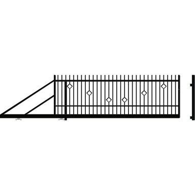 Brama przesuwna lewa RITA II 400cm POLARGOS