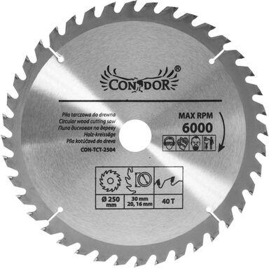 Tarcza do drewna CON-TCT-2504 śr. 250 mm  40 z CONDOR