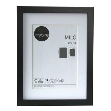 Ramka na zdjęcia Milo 18 x 24 cm czarna MDF Inspire