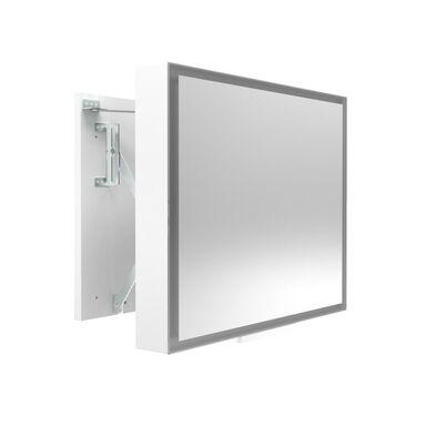 Lustro łazienkowe z oświetleniem wbudowanym ODSUWANE LED 78 x 60 MIRANO