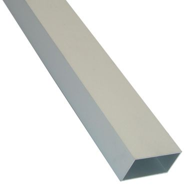Rura prostokątna aluminiowa 1 m x 12 x 10 mm surowa srebrna