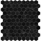 Mozaika Supreme Marquina Hex 31.7 x 30.7 Vidrepur