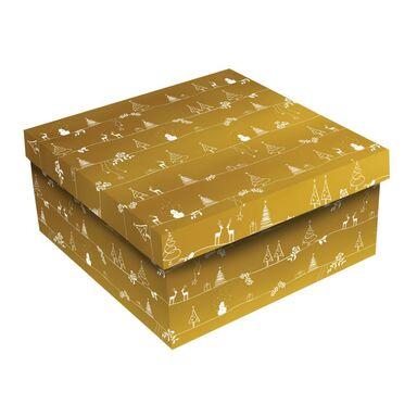 Pudło Święta gwiazdka złote M 18 x 24 x 12 cm