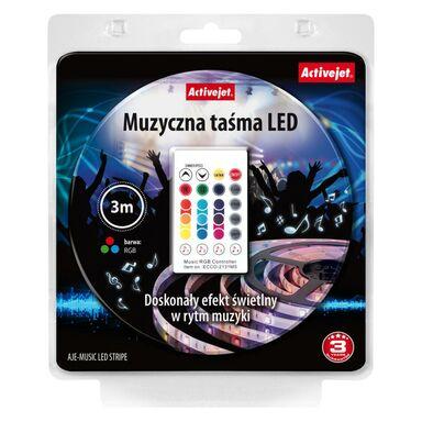 Zestaw taśmy muzycznej LED RGB z pilotem i zasilaczem w komplecie AJE-MUSIC LED STRIPE ACTIVEJET