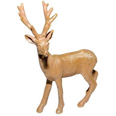 Figurka złoty renifer 14 cm