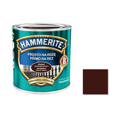 Farba antykorozyjna PROSTO NA RDZĘ 2.5 l Ciemnobrązowy Półmat HAMMERITE